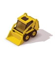 isometric mini loader vector image vector image