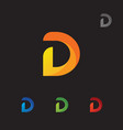 letter d abstract logo vector image