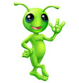 little green man alien vector image vector image