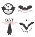 logos with the image of a bat vector image vector image
