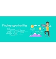 Man Finding Opportunities Concept vector image vector image