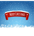 Merry Christmas background with red realistic vector image vector image