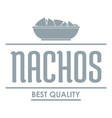 nachos logo simple gray style vector image vector image
