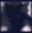 nightly sky scene with starry background and vector image vector image