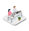office workers at work place concept coworking vector image