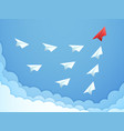 paper plane leadership concept business teamwork vector image