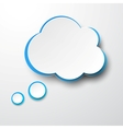 Paper white-blue cloud vector | Price: 1 Credit (USD $1)