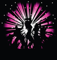party people on a pink and black vector image vector image
