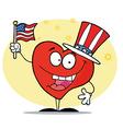 Patriotic American Heart vector image vector image