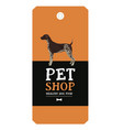 pet shop design label german shorthaired pointer vector image vector image