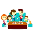 Playing Fun Card Games with Family vector image