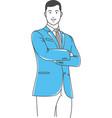 positive manager gesturing outline