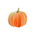pumpkin simple icon with watercolor effect vector image vector image