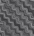 Repeating ornament gray and white diagonal wavy vector image