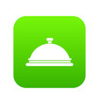 restaurant cloche icon digital green vector image