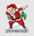 santa claus dabbing dance is very cute vector image