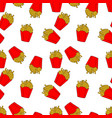 seamless pattern of colored french fries vector image vector image
