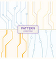set of four abstract seamless patterns of lines vector image vector image