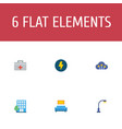 set of technology icons flat style symbols with vector image