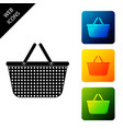shopping basket icon isolated online buying vector image vector image