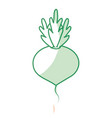 silhouette delicious and health onion vegetable vector image vector image