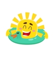 Smiling cheerful sun wearing sunglasses isolated vector image vector image