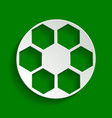 soccer ball sign paper whitish icon with vector image vector image
