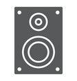 sound speaker glyph icon electronic and digital vector image vector image