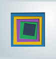 squares colored paper vector image