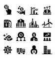 stock exchange stock market icons vector image vector image