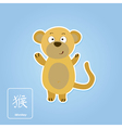 Stock icons with monkey and chinese zodiac vector image vector image