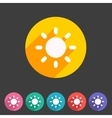 Sun badge flat icon sign set symbol vector image