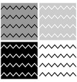 tile pattern set with white grey and black zigzag vector image vector image