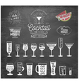 Typographical Drinks Design Elements on Chalkboard vector image vector image