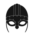 Viking helmet icon in black style isolated on vector image vector image