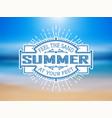 vintage summer label vector image vector image