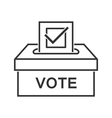 Voting paper with approved checkmark line icon vector image vector image