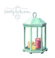 Watercolor cozy candles vector image vector image
