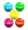 web social network concept vector image vector image