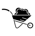 wheelbarrow garden icon vector image