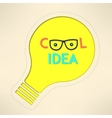 Light bulb cool idea with googles background vector image