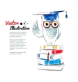 Owl sitting on books vector image