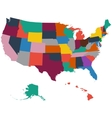 Set of US state maps on a white background vector image