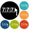 777 icon vector image vector image