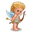 a little baby angel of love isolated on white vector image