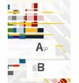 abstract lines geometrical modern background vector image vector image