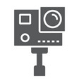 action camera glyph icon electronic and digital vector image vector image