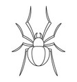 black house spider icon outline style vector image