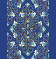 blue oriental pattern vector image vector image