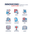 book store - modern color single line icon vector image